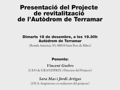 Presentación del proyecto de revitalización del Autódromo de Terramar