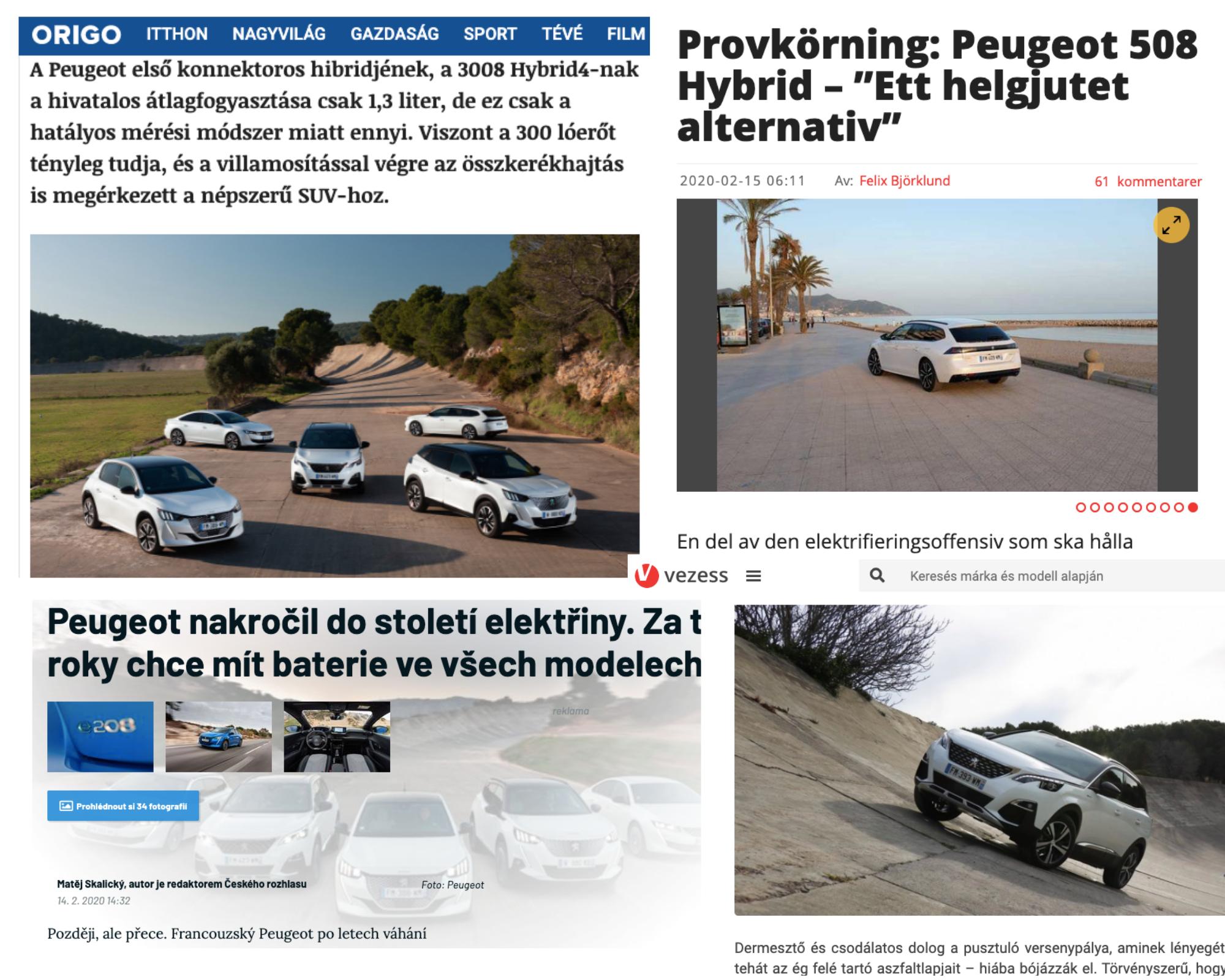La prensa internacional conoce la gama híbrida de Peugeot desde el Autòdrom 7